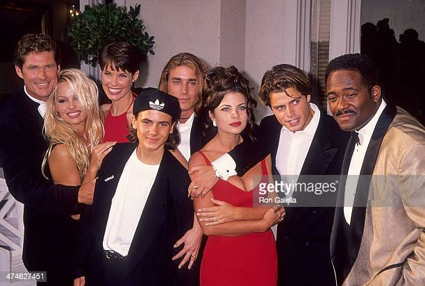 Actor David Hasselhoff actress Pamela Anderson actress Alexandra Paul actor Jeremy Jackson actor Jaason Simmons actress Yasmine Bleeth actor David...