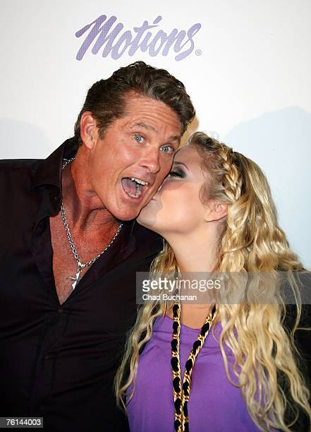 Actor David Hasselhoff and daughter Hayley Amber Hasselhoff attend the Celebrity Catwalk For Charity at The Highlands on August 16 2007 in Los...