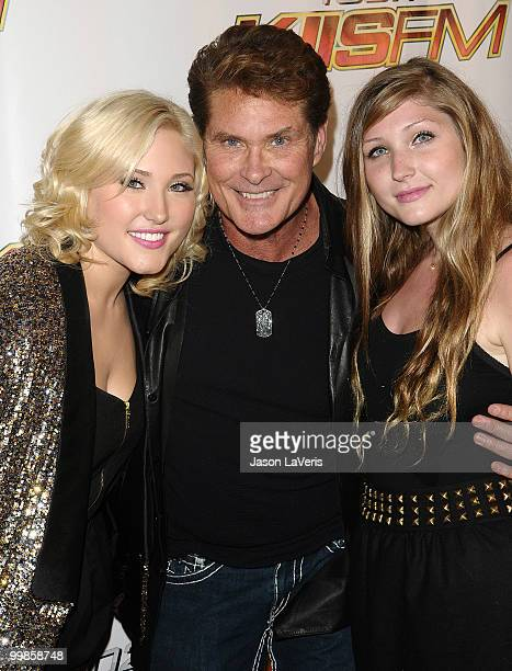 Actor David Hasselhoff and daughters Hayley Hasselhoff and Taylor Hasselhoff attend KIIS FM's 2010 Wango Tango Concert at Staples Center on May 15...