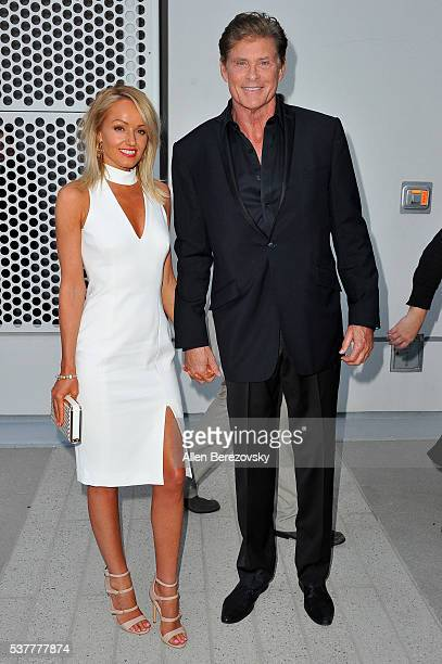 Actor David Hasselhoff and Model Hayley Roberts attend the Television Academy's 70th Anniversary Gala on June 2 2016 in Los Angeles California