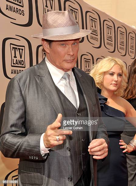 Actor David Hasselhoff arrives at the 8th Annual TV Land Awards at Sony Studios on April 17, 2010 in Los Angeles, California.