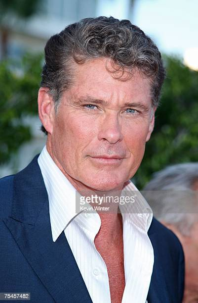 Actor David Hasselhoff arrives to the NBC AllStar Party held during the 2007 Summer Television Critics Association Press Tour at the Beverly Hilton...