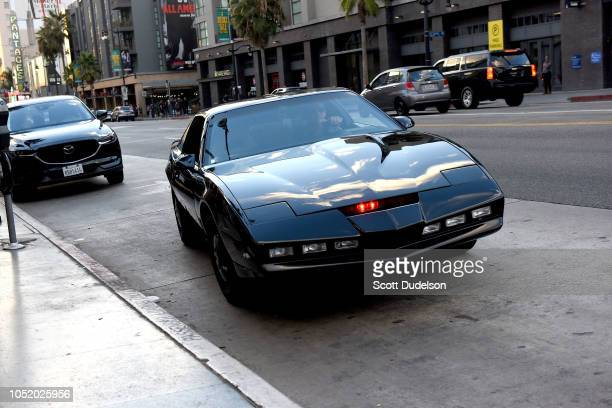 Actor David Hasselhoff arrives to the Strange 80's Benefit Concert in the original KITT car from the 1980's TV show Knight Rider at The Fonda Theatre...