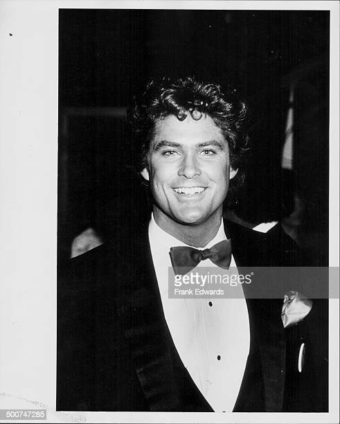 Actor David Hasselhoff attending the 11th American Music Awards at the Shrine Auditorium Los Angeles January 1984