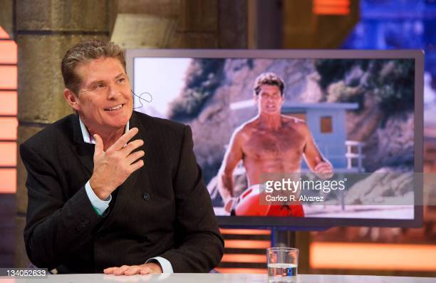 Actor David Hasselhoff attends 'El Hormiguero' TV Show on November 24 2011 in Madrid Spain
