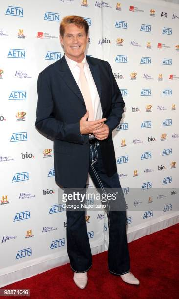 Actor David Hasselhoff attends the 2010 A&E Upfront at the IAC Building on May 5, 2010 in New York City.