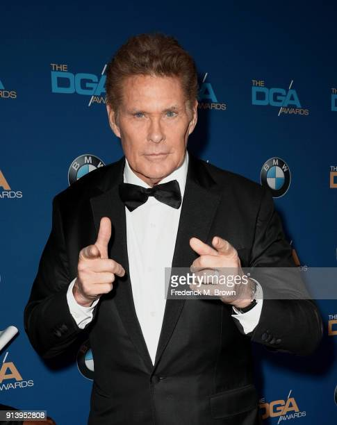 Actor David Hasselhoff attends the 70th Annual Directors Guild Of America Awards at The Beverly Hilton Hotel on February 3 2018 in Beverly Hills...