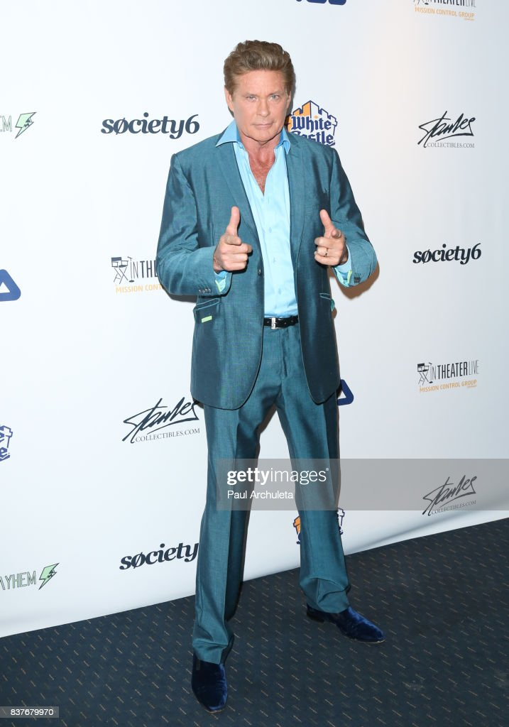 Actor David Hasselhoff attends the 'Extraordinary: Stan Lee' event at The Saban Theatre on August 22, 2017 in Beverly Hills, California.
