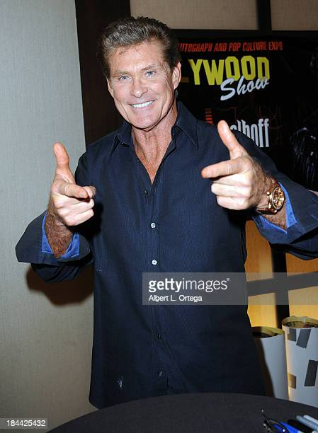 Actor David Hasselhoff attends The Hollywood Show held at The Westin Los Angeles Airport Hotel on Saturday October 5 2013 in Los Angeles California