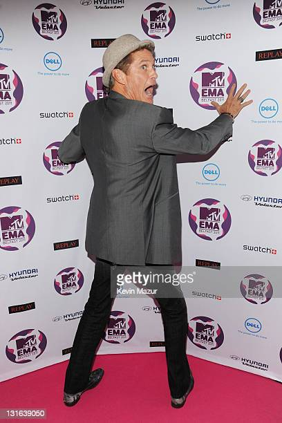 Actor David Hasselhoff attends the MTV Europe Music Awards 2011 at the Odyssey Arena on November 6 2011 in Belfast Northern Ireland