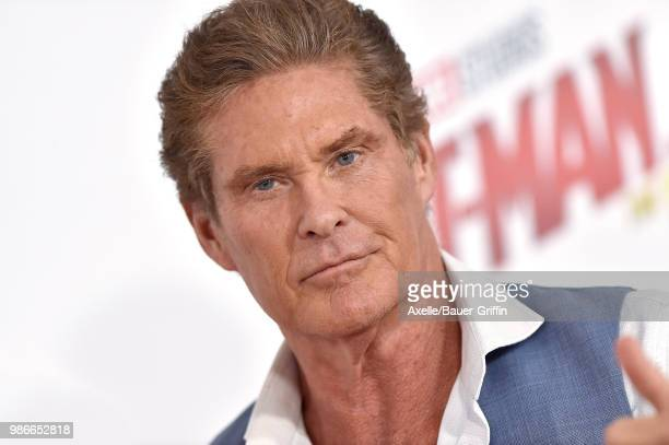 Actor David Hasselhoff attends the premiere of Disney and Marvel's 'AntMan and the Wasp' at El Capitan Theatre on June 25 2018 in Hollywood California