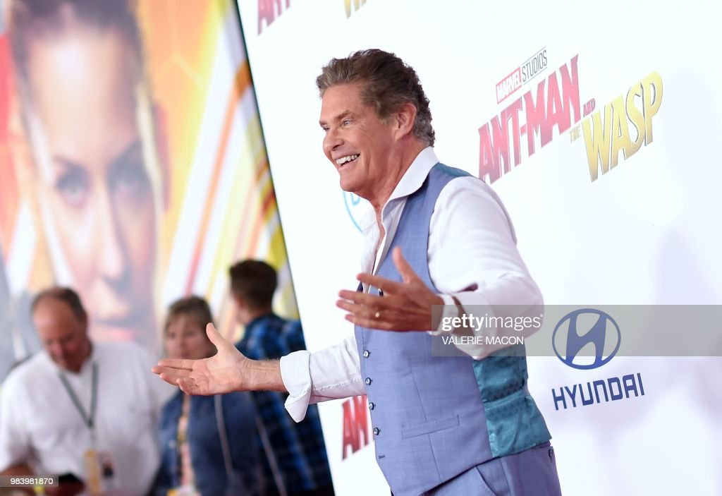US actor David Hasselhoff attends the World Premiere of Marvel Studios' 'Ant-Man and The Wasp' at the El Capitan Theater, on June 25, 2018, in Hollywood, California.