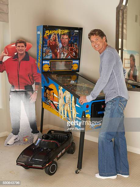 Actor David Hasselhoff is photographed in 2006 at home