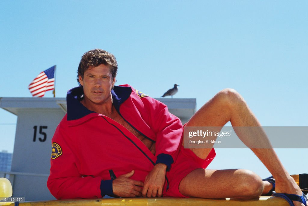 4efedfd5a9 Actor David Hasselhoff plays lifeguard Mitch Buchannon on the television  show Baywatch