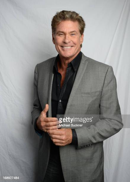Actor David Hasselhoff poses for a portrait at the Variety Studio at the 66th Annual Cannes Film Festival at Chivas House on May 17 2013 in Cannes...