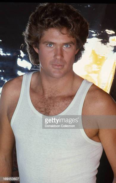 Actor David Hasselhoff poses for a portrait session wearing tank top in 1981 in Los Angeles California