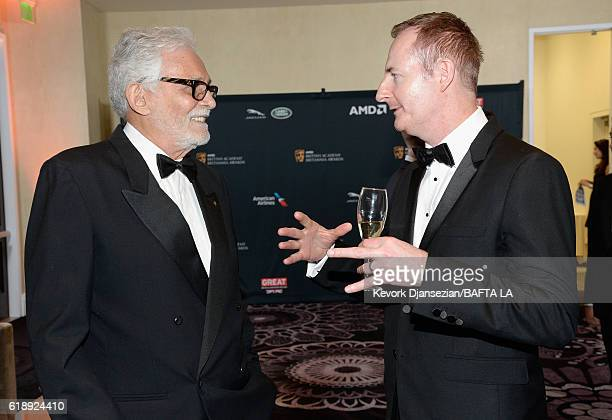 Actor David Hedison and BAFTA LA Chairman of the Board Kieran Breen attend the 2016 AMD British Academy Britannia Awards presented by Jaguar Land...