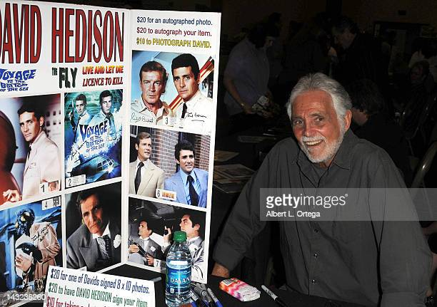 Actor David Hedison participates in The Hollywood Show held at Burbank Airport Marriott on April 21 2012 in Burbank California
