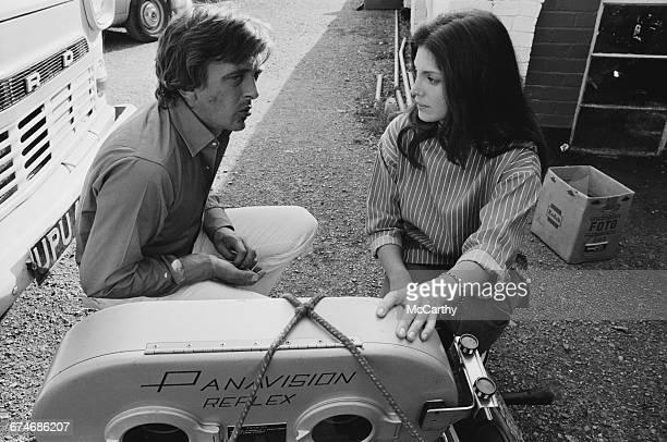 Actor David Hemmings and his wife actress Gayle Hunnicutt on location near Rugby where he is directing his first film 'Running Scared' UK 27th August...