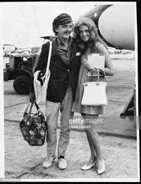 Actor David Hemmings with his fiancee actress Gayle Hunnicut 1967