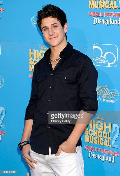 Actor David Henrie arrives to the world premiere of Disney Channel's High School Musical 2 held at the Downtown Disney District at Disneyland Resort...