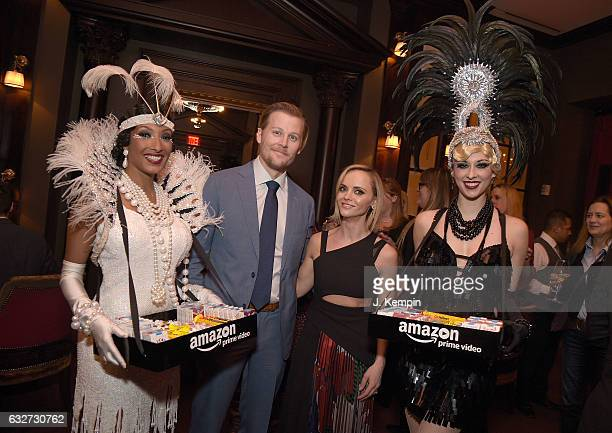 Actor David Hoflin and actress Christina Ricci attend the afterparty for Amazon's New Series 'Z The Beginning Of Everything' Premiere at The NoMad...