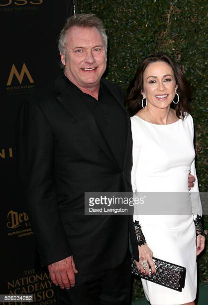 Actor David Hunt and actress Patricia Heaton attend the 43rd Annual Daytime Creative Arts Emmy Awards at Westin Bonaventure Hotel on April 29 2016 in...