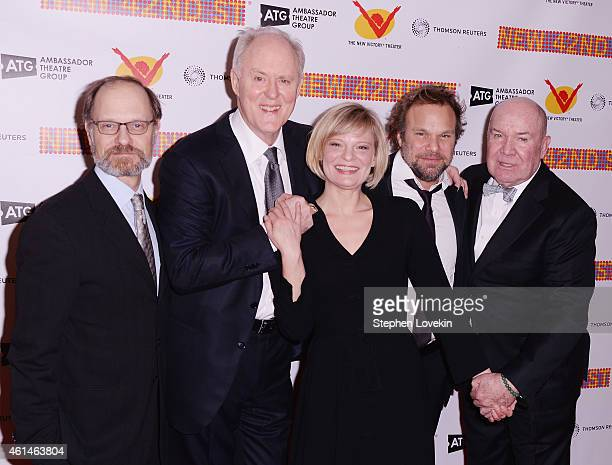 Actor David Hyde Pierce actor John Lithgow The New 42nd Street President Cora Cahan actress Martha Plimpton actor Norbert Leo Butz and actor Jack...