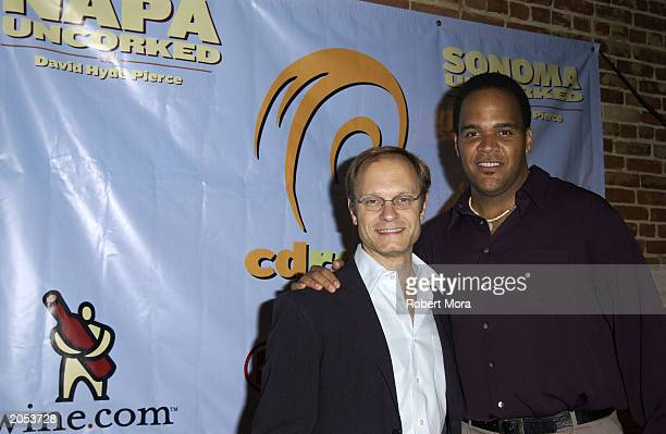 Actor David Hyde Pierce and Victor Williams attend a wine tasting and CD release party for Sonoma Uncorked narrated by David Hyde Pierce at Cinespace...