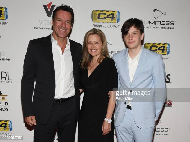 Actor David James Elliott actress Nanci Chambers and Wyatt Smith attend the 11th annual Fighters Only World MMA Awards at Palms Casino Resort on July...