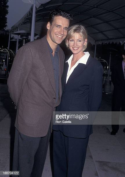 Actor David James Elliott and actress Tracey Needham attend the NBC Winter TCA Press Tour on January 16 1996 at the RitzCarlton Hotel in Pasadena...