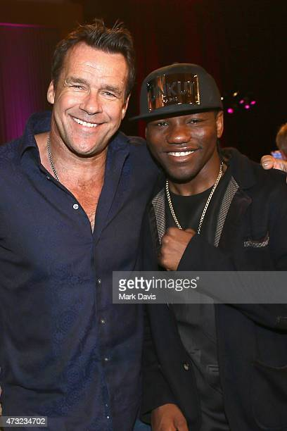 Actor David James Elliott and boxer Hassan N'Dam N'Jikam attend B Riley Co And Sugar Ray Leonard Foundation's 6th Annual 'Big Fighters Big Cause'...