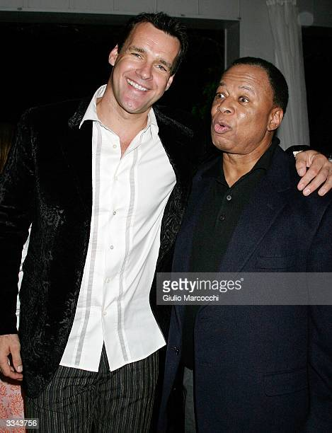 Actor David James Elliott and coexecutive producer Chas Floyd Johnson attend the Paramount Network Television and CBS 200 Episodes of JAG Celebration...
