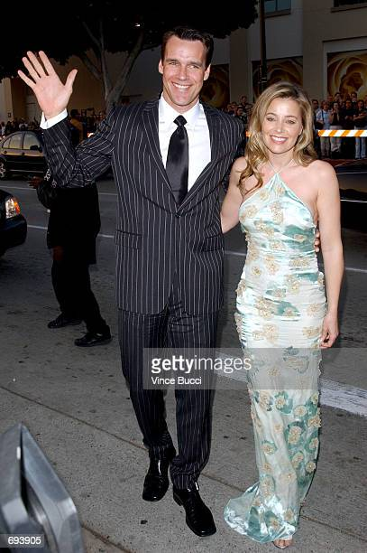 Actor David James Elliott and his wife Nanci attends the 28th Annual Peoples Choice Awards at the Pasadena Civic Center January 13 2002 in Pasadena CA