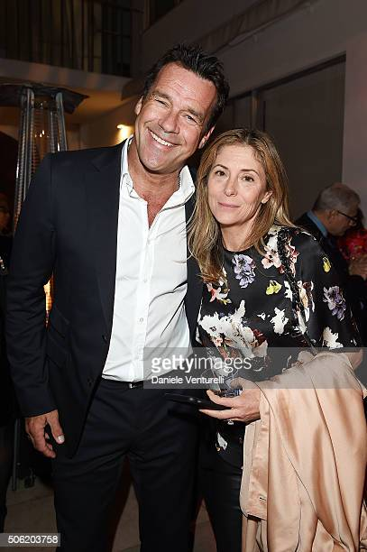 Actor David James Elliott and Nanci Chambers attend Cocktail Party Celebrating 1th Taormina Film Fest Los Angeles 2016 at Italian Cultural Institute...