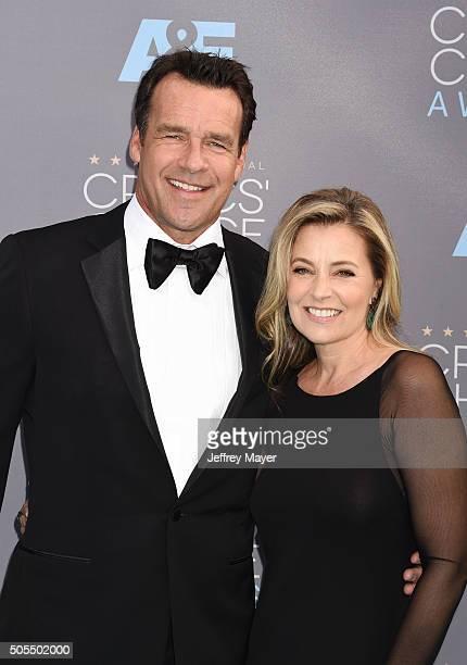 Actor David James Elliott and Nanci Chambers attend the 21st Annual Critics' Choice Awards at Barker Hangar on January 17 2016 in Santa Monica...
