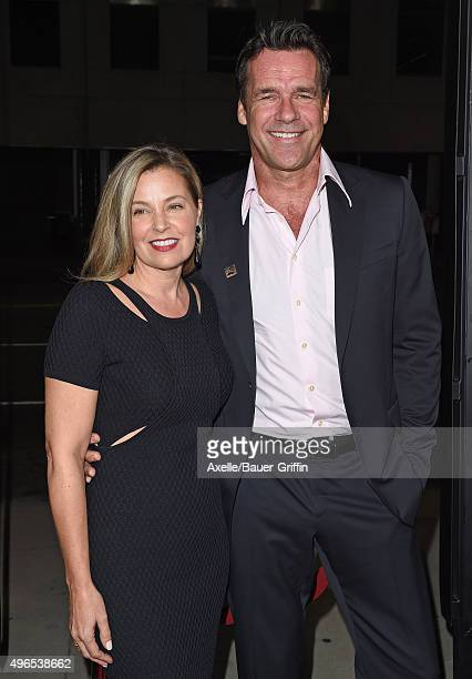 Actor David James Elliott and wife Nanci Chambers arrive at the premiere of Bleecker Street Media's 'Trumbo' at Samuel Goldwyn Theater on October 27...