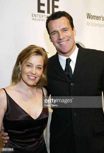 Actor David James Elliott and wife Nanci Chambers arrive at the Saks Fifth Avenue's Unforgettable Evening at the Regent Beverly Wilshire on March 1...