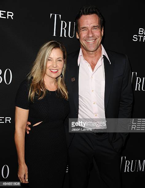 Actor David James Elliott and wife Nanci Chambers attend the premiere of Trumbo at Samuel Goldwyn Theater on October 27 2015 in Beverly Hills...