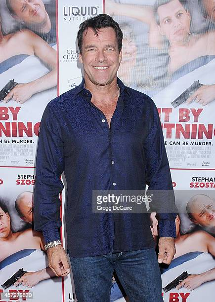 Actor David James Elliott arrives at the Los Angeles premiere of Hit By Lightning at ArcLight Hollywood on October 27 2014 in Hollywood California