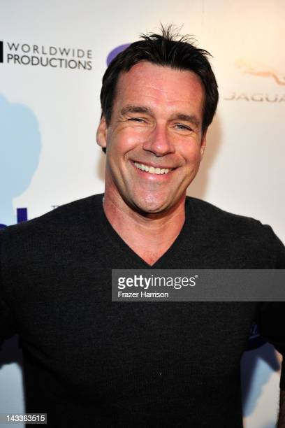 Actor David James Elliott arrives at the official launch party of BritWeek at a private residence in Hancock Park 2012 on April 24 2012 in Los...