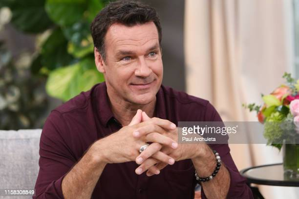 Actor David James Elliott visits Hallmark's Home Family at Universal Studios Hollywood on June 25 2019 in Universal City California