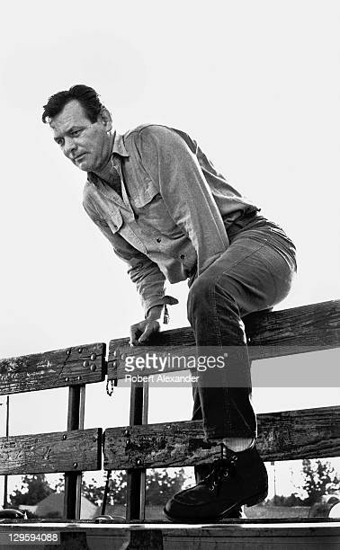 Actor David Janssen prepares to film a scene for the ABCTV series The Fugitive in 1966 The small town of Highland in Southern California was used as...