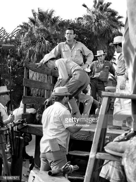Actor David Janssen prepares to film a scene for the ABCTV series 'The Fugitive' in 1966 The small town of Highland in Southern California was used...