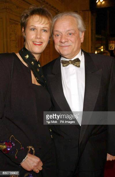 Actor David Jason and longterm partner Gill Hinchcliffe arriving at the National Television Awards at the Royal Albert Hall in London