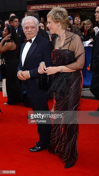 Actor David Jason and partner Gill Hinchcliffe arrive at the British Academy Television Awards held a the London Palladium Theatre London April 13th...