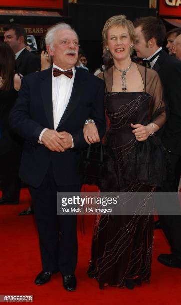 Actor David Jason and partner Gill Hinchcliffe arriving for the British Academy Television Awards at the London Palladium