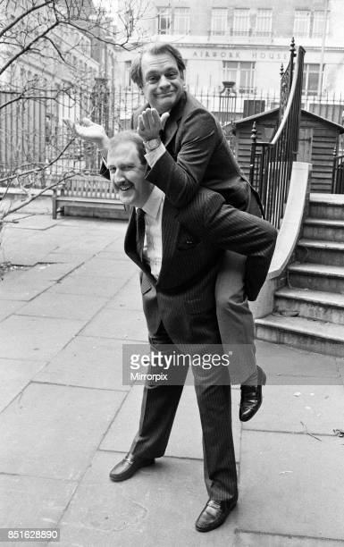 Actor David Jason on the back of Gordon Kaye are nominated for the 1985 Film Awards presented by BAFTA 16th February 1986