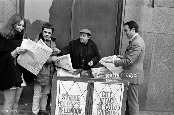 Actor David Jason outside ATV Thames, buying a newspaper, 6th February 1969.