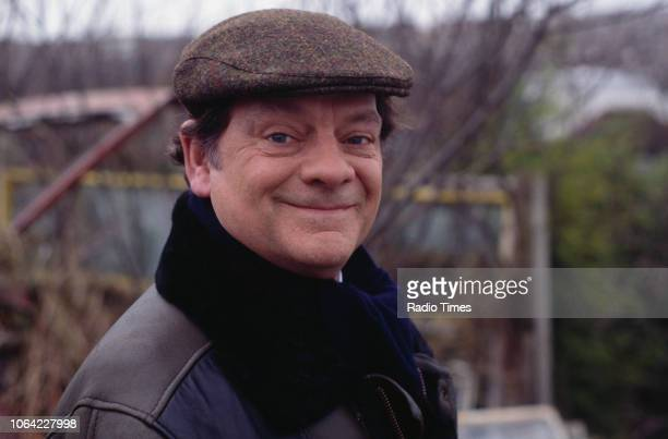 Actor David Jason pictured during the filming of episode 'Mother Nature's Son' for the television sitcom 'Only Fools and Horses' November 25th 1992